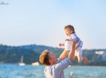 Семейная фотосессия на пляже