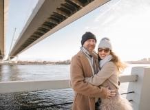 ФотоПрогулка у моста в Санкт-Петербурге