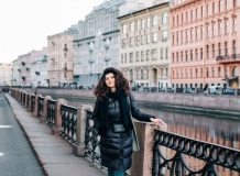 На набережной реки Мойки в Санкт-Петербурге