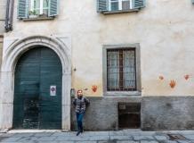 Старые дома в Бергамо Италия
