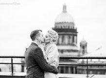 Ссвадебная Фотосессия на крыше в Санкт-Петербурге