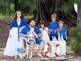 Фото большой семьи, морской стиль