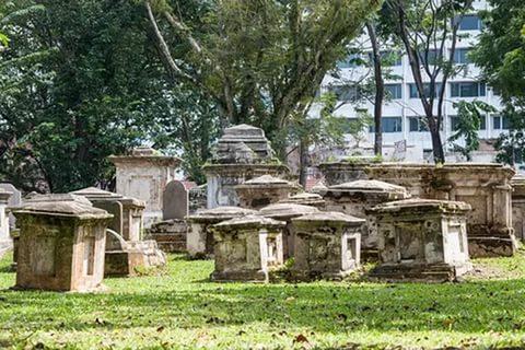 Протестантское кладбище на Пенанге