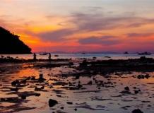 Закат и отлив на острове Пи-Пи Дон