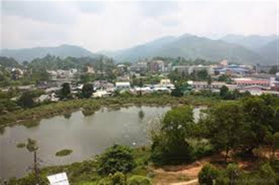 Вид из окна в Tinidee Hotel Ranong