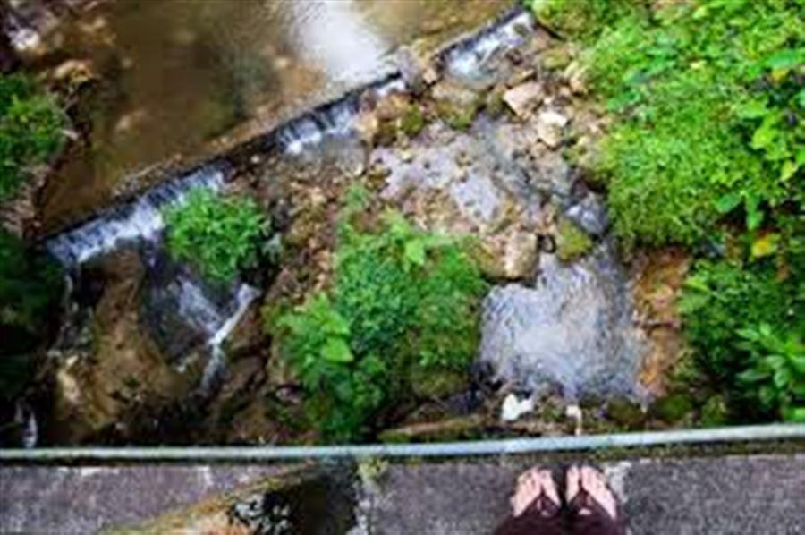 На мосту у водопада Пуниабан