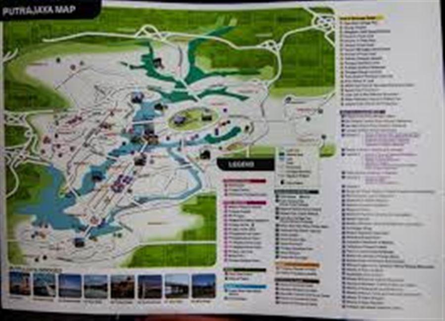 Карта Путраджая