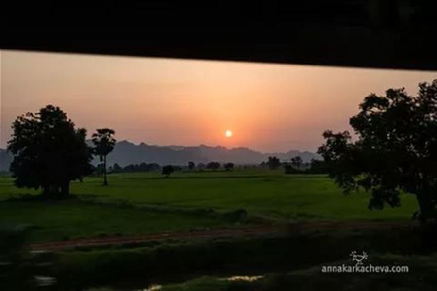 Закат в Канчанабури