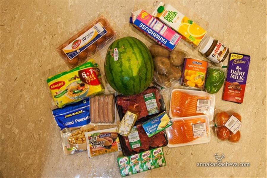Цены на продукты в Сингапуре
