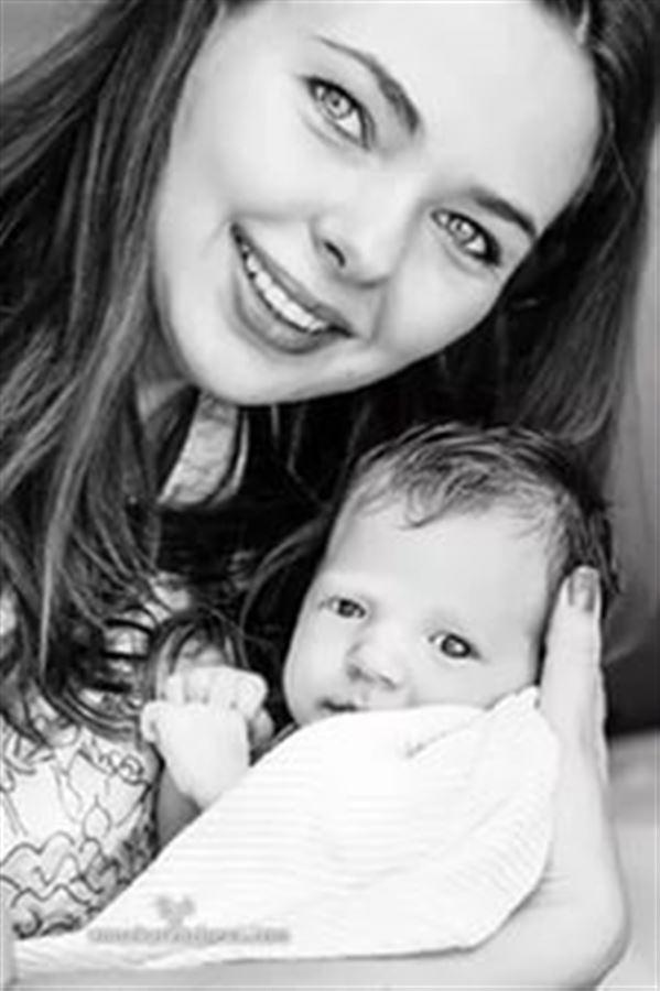 Newborn Baby girl Black & White