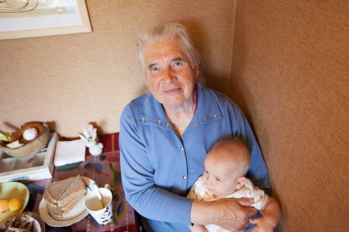 Внук и баба Валя