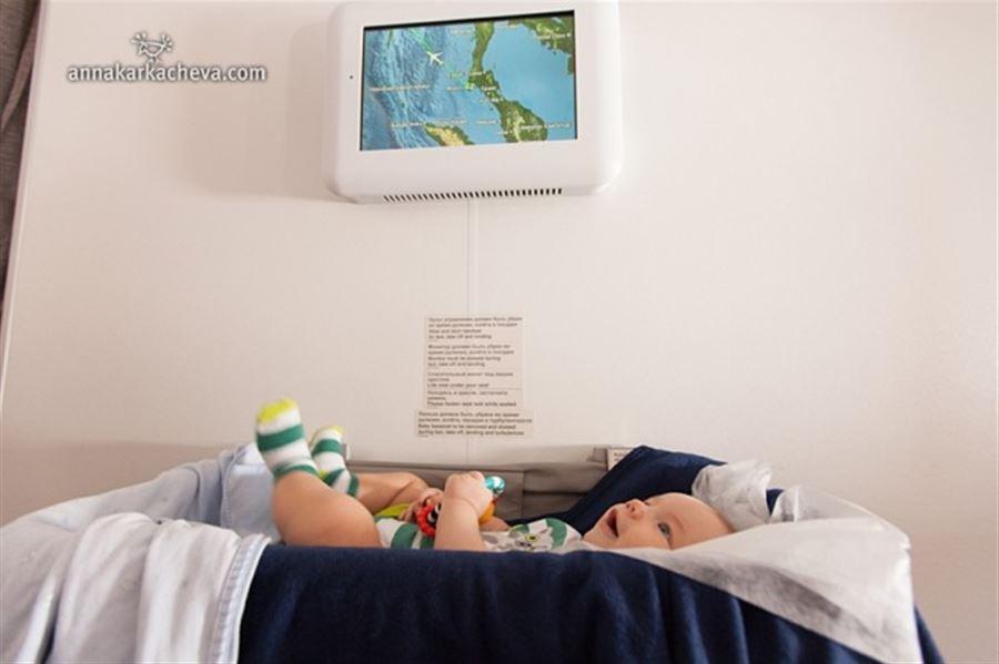 Люлька для малышей в самолете