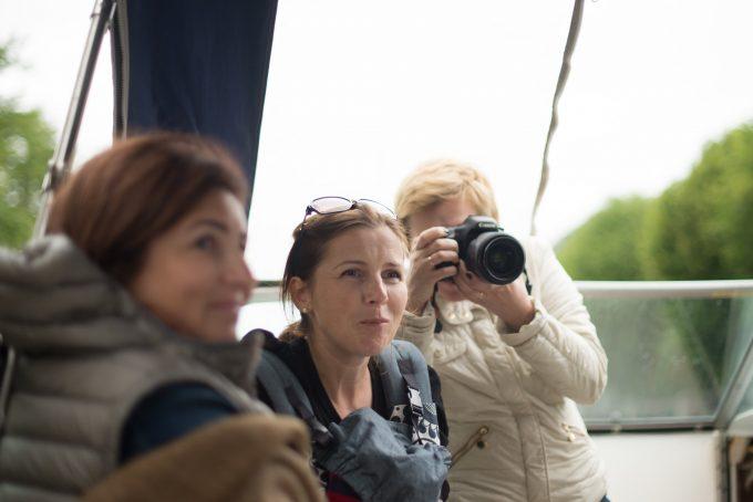 Фотографы на катере