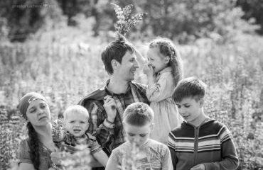 Семья с пятью детьми