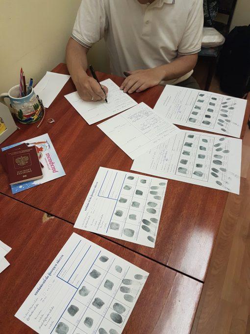 Процедура отпечатков пальцев