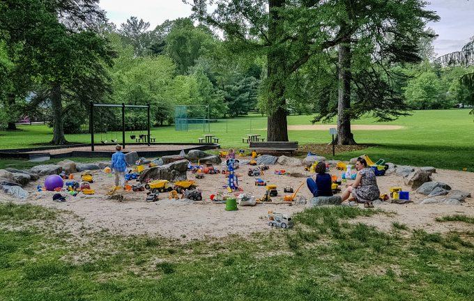 Детская площадке в парке Марканд, Принстон