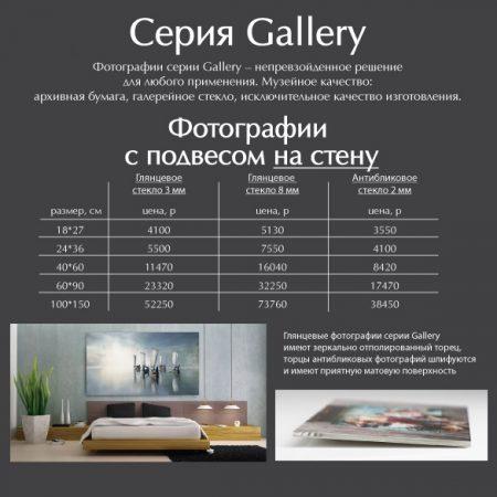 Фотографии с подвесом на стену