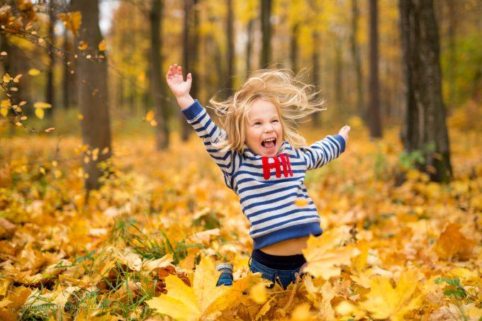 Осенняя фотосессия в парке Петербурга
