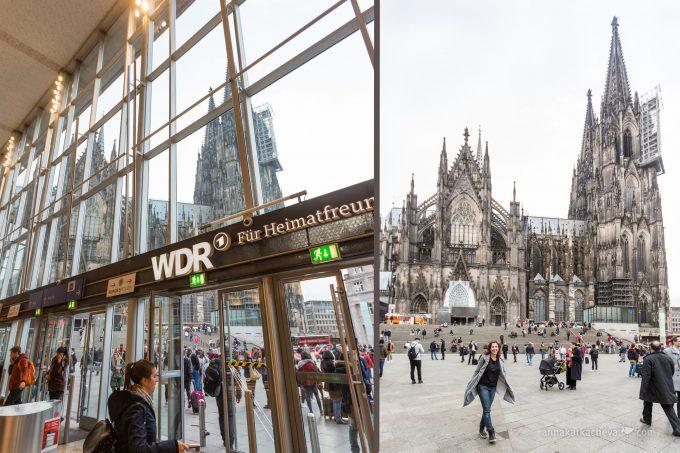 Вид на Кельнский Собор из здания вокзала Hauptbahnhof