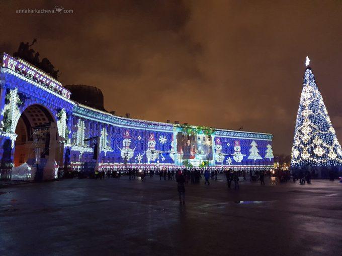 Новый Год на Дворцовой площади в Санкт-Петербурге