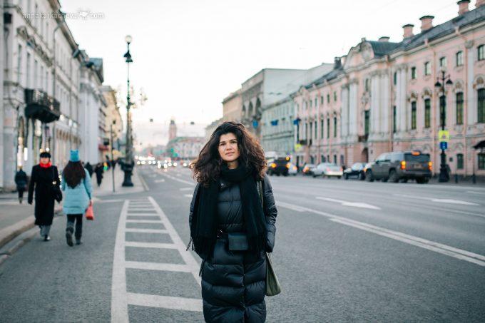 Фото с видом на Невский проспект