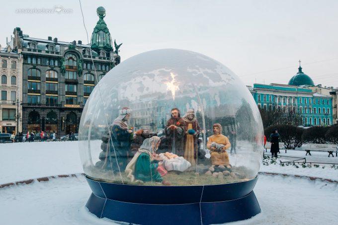Главная Рождественская служба Санкт-Петербурга в Казанском соборе