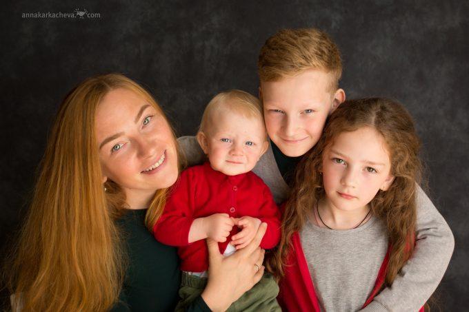 Фотосессия многодетной семьи