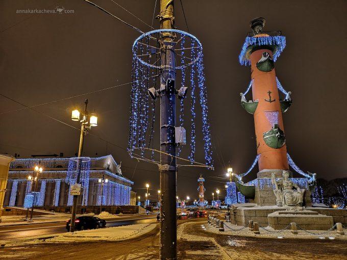 Новый год на Стрелке Васильевского острова