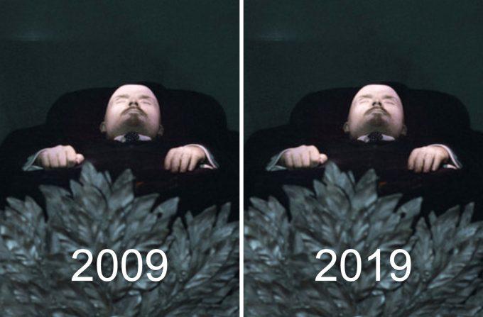 10yearschallenge Lenin alive