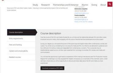 Описание курса Медиа и Дизайн в Лестер