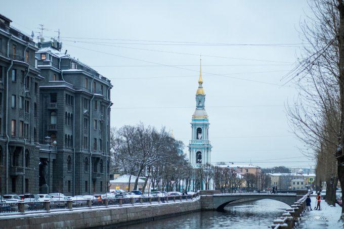 Вид на Кашин мост и Николо-Богоявленский Собор
