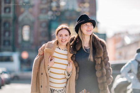 Фотосессия с подругой в Петербурге