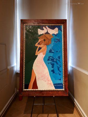 Картины на выставке Федора Конюхова в Петербурге