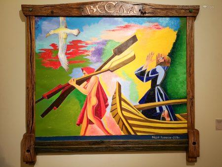 Весла - Картины на выставке Федора Конюхова в Петербурге