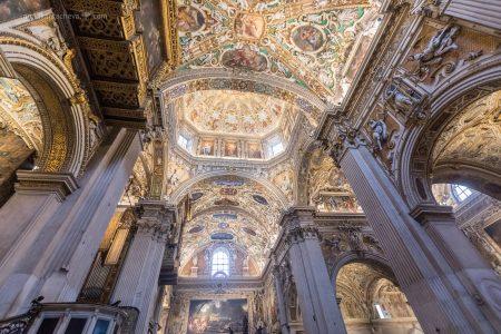 Детали Санта Мария Маджоре в Бергамо