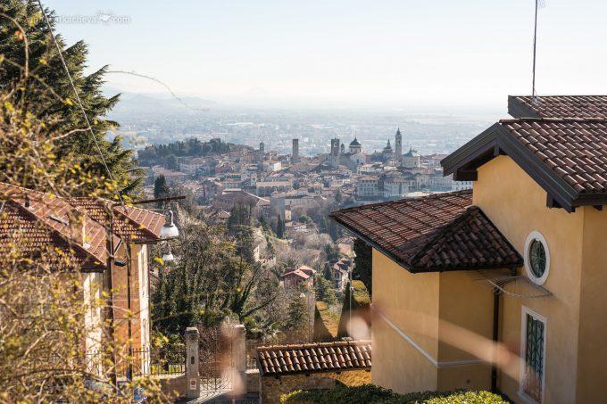 Бергамо. Вид на нижний город