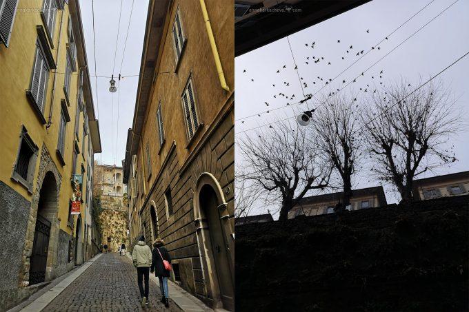 Улочка в старом городе в Бергамо