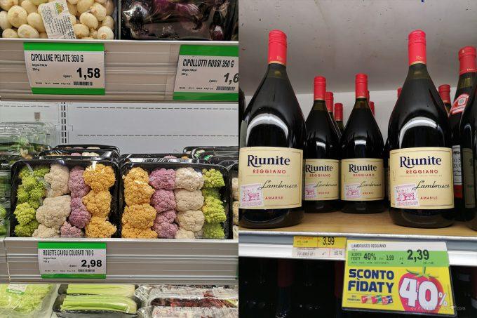Цены на продукты в Милане